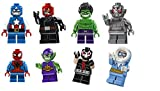 LEGO DC Super Heroes Mighty Micros Minifigure Pack of 8 - Spider-Man, Bane, Red Hood, Captain Cold, Green Goblin, Ultron, Captain America, Hulk,