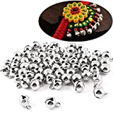 Xinlie Campanellini Morsetto di Rame per Matrimonio Campanelle Sonagli Silver Jingle Bells New Jingle Bells Jumbo Jingle Bells Jingle Bell per Festival Decorazioni Charms Creazione di Gioielli(200PCS)