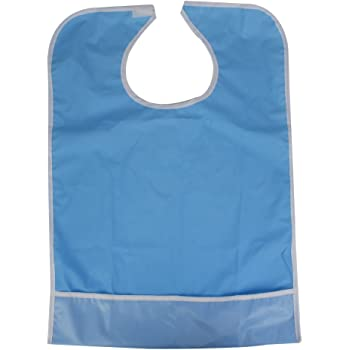 Waterproof Mealtime Bib Elder Disability Aid Cook Dining Clothes Bamboo Fiber Fabric 12 x 16Inch Adult Bibs Clothing Protector