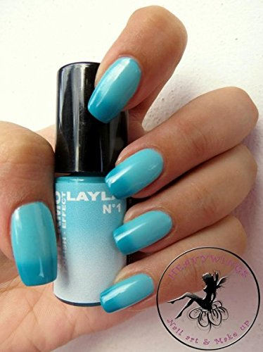 THERMO NAGELLACK - LAYLA THERMO POLISH EFFECT - DARK TO LIGHT BLUE + LATINOIL PROBIERGRÖSSE