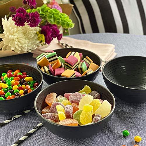 bzyoo BPA-Free Dishwasher Safe 100% Melamine Designed 23oz Bowl Set Best for Indoor and Outdoor Party Portion Control… Salted Salad