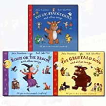 Julia Donaldson Song and Other Songs 3 Books Bundle Collection (The Gruffalo's Child Song and Other Songs, Room on the Broom and Other Songs Book and CD (Book & CD), The Gruffalo Song & Other Songs)