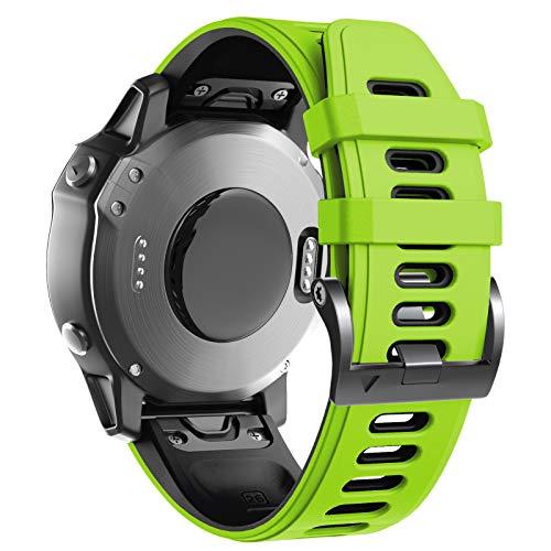 ANBEST Compatibile con Fenix 6X Cinturino in Silicone per Orologio Sportivo Fenix 5X / 5X Plus/Fenix 6X PRO/Fenix 3 / Fenix 3 HR/partenza MK1 / D2 Delta PX / D2 Charlie Smartwatch