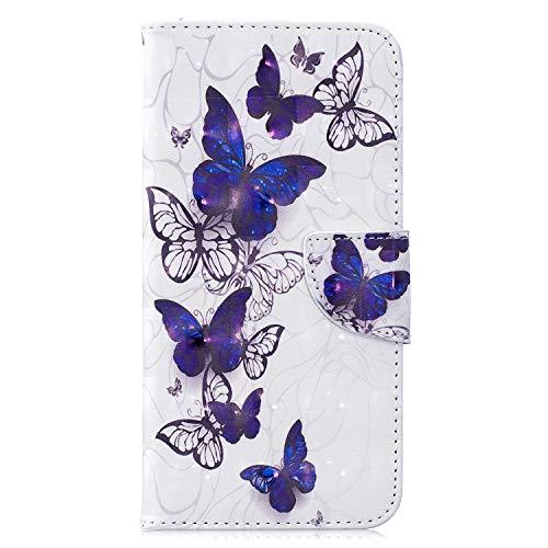 Lomogo Lomogo Galaxy M10 Hülle Leder, Schutzhülle Brieftasche mit Kartenfach Klappbar Magnetverschluss Stoßfest Handyhülle Case für Samsung Galaxy M10 - LOBFE120054#4