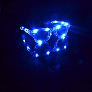1 Pair of LED Flashing Light Up Party Retro Aviator Glasses Shades