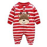 MEIHAOWEI Baby Rompers Warm Fleece Clothing Set para Niños Mono de Dibujos Animados Infant Girls Clothes Newborn Overalls Baby Jumpsuit