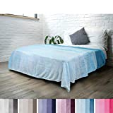 PAVILIA Flannel Fleece Ombre Throw Blanket for Couch | Super Soft Cozy Microfiber Couch Blanket | Gradient Decorative Accent Throw | All Season, 60x80 Inches Turquoise Blue