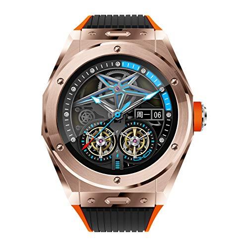 BNMY Smartwatch, Reloj Deportivo De Llamada Bluetooth con Pantalla Táctil 1,28 '', Rastreador De Actividad con Frecuencia Cardíaca, Reloj Deportivo Inteligente para Hombres, Mujeres, Android iOS,Oro