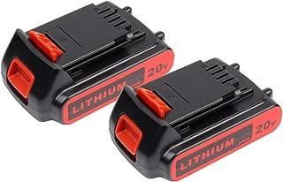 2X Masione 20v 2.5Ah Li-ion Extended Replacement Battery for Black & Decker LBXR20 LB20 LBX20 LBXR2020-OPE LB2X4020 Cordless Tools