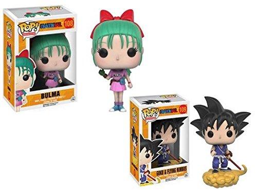 Funko POP! Dragonball: Bulma + Goku & Flying Nimbus - Vinyl Figure Set NEW