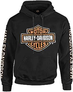 Wisconsin Harley-Davidson Harley-Davidson Men's Bar & Shield Logo Pullover Hoodie - Black 30297503