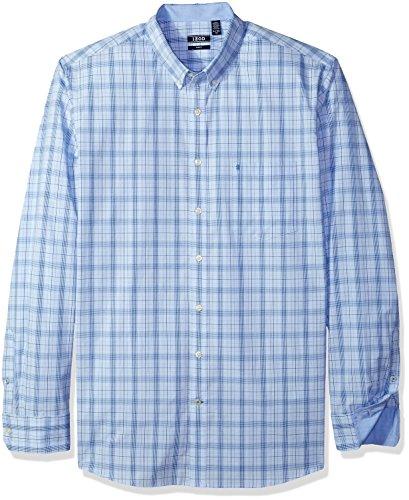Izod Herren Big and Tall Essential Tattersall Long Sleeve Shirt Hemd, Blue Revival Legacy 1, XX-Large Hoch Schlank