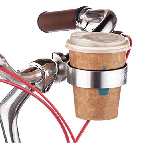 LYLXS Fahrrad-Kaffeehalter, Flaschenhalter,Becherhalter, Dosenhalter, Mountain Bike Handlebar Coffee, Water Cup Holder Cage,Schwarz/Silber
