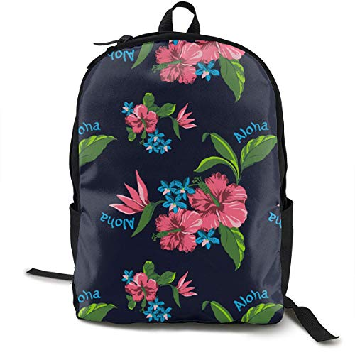 sghshsgh Mochilas Tipo Casual Casual Backpck Big Capacity Anti-Theft Multipurpose Bookbag Backpack for Sports Outdoors Running Hawaiian State Flower Pattern Print Boys Girls Gift Travel Hiking