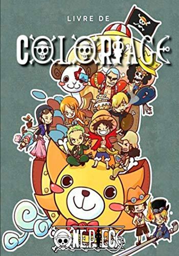 Livre de coloriage One Piece: Livre de coloriage Anime / Manga / One Piece / Luffy ( 7 x 10 ) pouces
