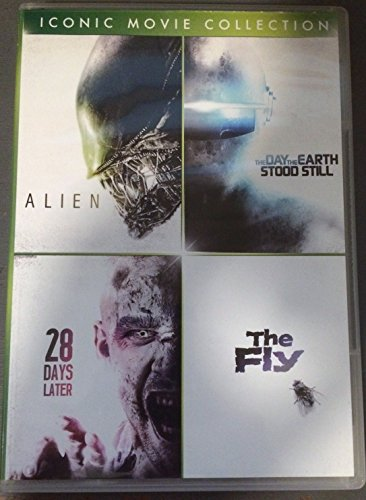 Iconic Movie Collection: Alien (1979), The Day the Earth Stood Still (1951), 28 Days Later (2003), The Fly (1958)