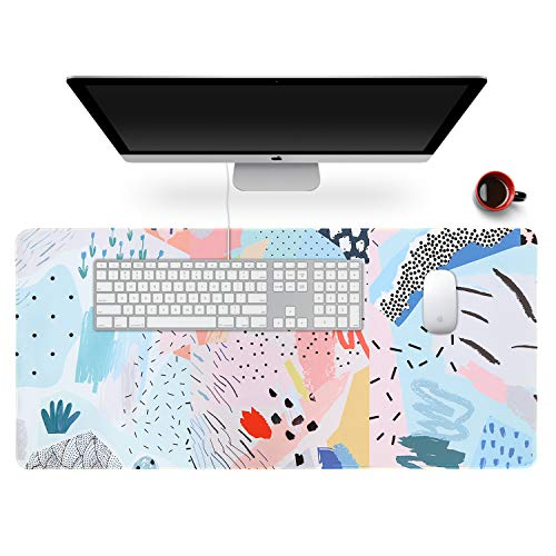 "Anyshock Desk Mat, Extended Gaming Mouse Pad 35.4"" x 15.7"" XXL Keyboard Laptop Mousepad with Stitched Edges Non Slip Base, Water-Resistant Computer Desk Pad for Office and Home (Cartoon Nature)"