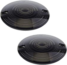 NTHREEAUTO Turn Signal Lights Lens Covers Smoked Compatible with Harley Touring Electra Glide Road King Softail