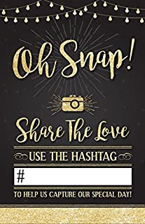 Photo Booth International WEDDING HASHTAG SIGN. Beautiful social media share sign for all wedding receptions, add your own hashtag!