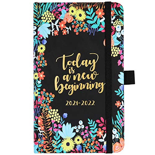 2021-2022 Pocket Planner - Weekly & Monthly Pocket Planner, July 2021 - June 2022, 6.3''×3.8'', Agenda Planner and Schedule Organizer with Pen Holder