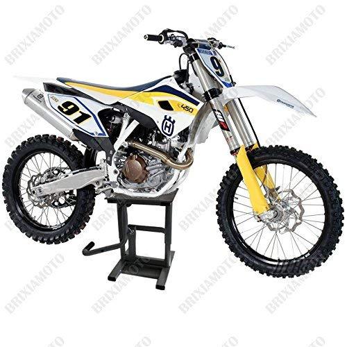 one by Camamoto Cavaletto Alza moto Alzamoto Universale per moto da Cross, enduro, fuoristrada e trial. Dotato di leva di sollevamento manuale (nero)