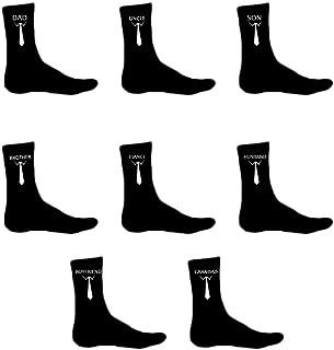 Calcetines personalizados para hombre, color negro, unisex, para boda, novio, marido, padre prometido