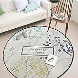 WmmoY-carpet Teppich Runder Teppich Schlafzimmer Wohnzimmer Sofa Couchtisch Otto Erde Matte Yoga Matte Runde Decke Teppich -100 * 100cm_ # 4
