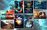 WXDGLL Godzilla vs Kong Posters Manga Decor Live Room Bedroom Anime Canvas Wall Art Print 8 PCS 11.5x16.5 Inch