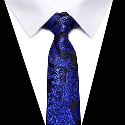 WOXHY Gold Striped Silk Men Neckties Plaid 8Cm Width Neck Ties for Men Wedding Tie Work Office Necktie Cravat