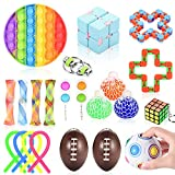 Nestling Toy Pack,Stress Relief Fdiget Toys Set,Jouets Anti-Stress pour la Concentration et Le Calme, Soulagement du Stress Et Jouets Sensoriels Anti-Anxiété pour Enfants Et Adultes(22C )