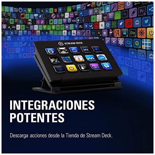 Elgato Stream Deck - Controlador para contenido en directo, 15 teclas LCD personalizables, soporte ajustable, Windows 10… 10