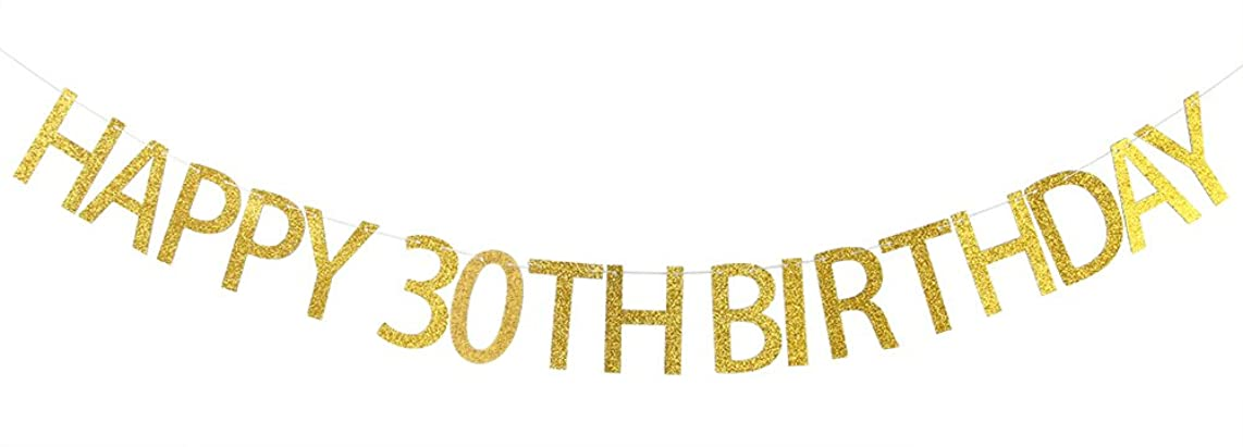 Happy 30th Birthday Banner Gold Glitter Dirty 30,30th Birthday Party Decorations Supplies