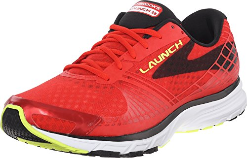 Brooks Launch 3 M, Chaussures de Running Homme, Multicolore (High Risk Red Black Nightlife), 44 EU