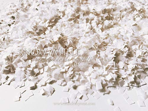 Snow White Confetti Biodegradable Slow Falling Tissue Paper 60g 2oz product image