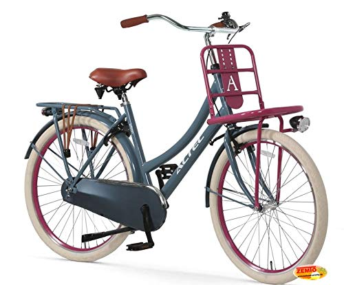 Hooptec Damen Hollandrad 28 Zoll Hoopetec Urban Transportfiets Grau-Pink 2019