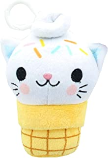 Underground Toys Kitty Cone Clip Yummy Sprinkles 5 inch Plush Backpack Clip