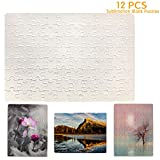12 Pack Jigsaw Puzzles 80 Pieces Sublimation Blanks Puzzles DIY Puzzle Blank A4 Custom Puzzle for Heat Transfer 9.4X7.5 inches
