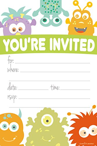 monster baby shower invitations - 5