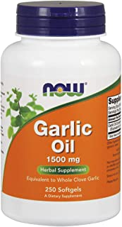Now Supplements, Garlic Oil 1500 mg, Serving Size Equivalent to Whole Clove Garlic, 250 Softgels