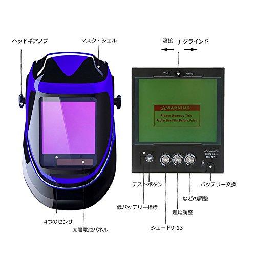 デコプロ『自動遮光液晶溶接面ワイドビュータイプ』
