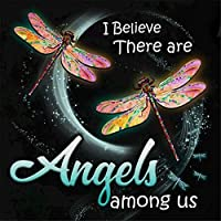 Dragonfly ダイヤモンドペインティング DIY 5D フルドリル ダイヤモンドペインティングキット 大人用 宝石写真 数字 アート引用工芸 ホームデコレーション用 11.8x11.8インチ 天使