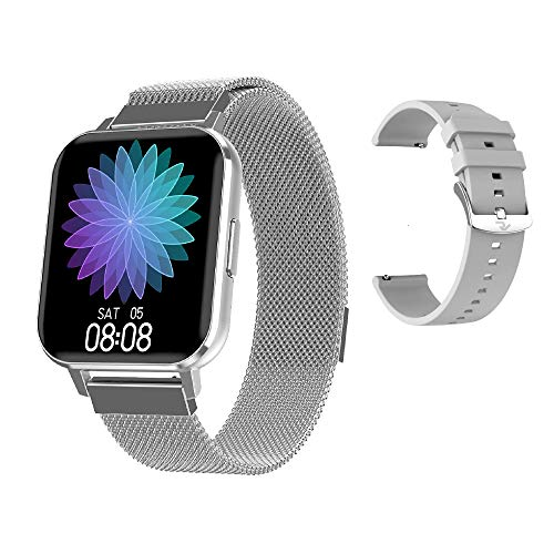 RIGHT TECHNOLOGY APOLLY 4 Smartwatch für Damen,1.78 HD Zoll Touch-Farbdisplay. Fitness Armbanduhr mit Pulsuhr Fitness Tracker Wasserdicht Sportuhr mit Schrittzähler,Schlafmonitor, IOS/Android