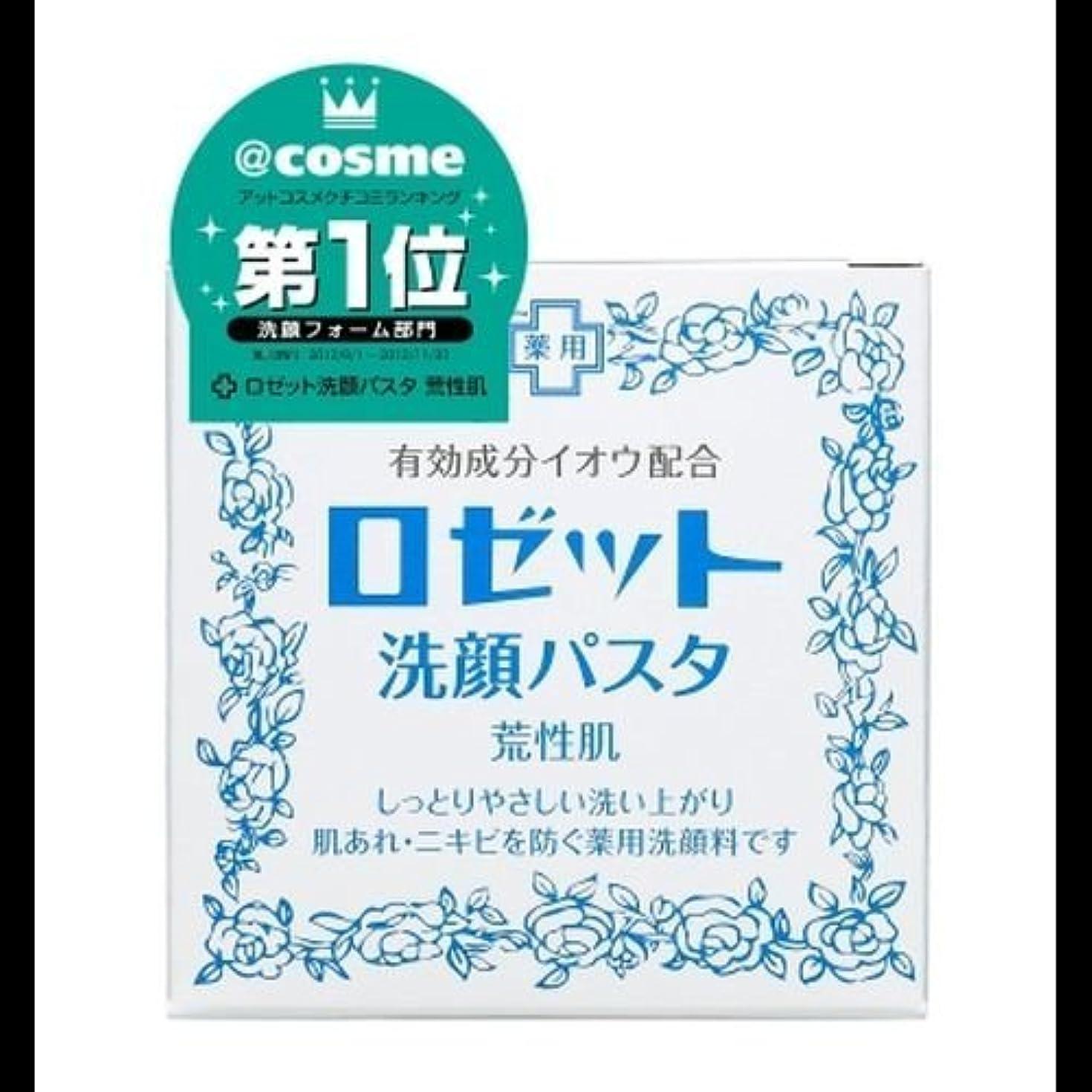 撤回する汚れたフルーツ【まとめ買い】ロゼット 洗顔パスタ 荒性90g ×2セット