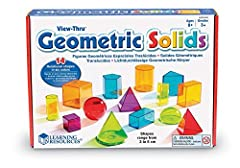 Transparent 3-D shapes fashioned in bright, bold colors Explore geometry, volume, and other math concepts Easy to fill with liquid or dry-fill, and easy to clean Colorful plastic shapes measure 3 cm or 6 cm Ideal for ages 8+