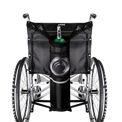 YUXINCAI Rollstuhl Sauerstofftankhalter Sauerstoffrucksack Rollstuhlbeutel, Tragbarer Sauerstofftank Beutel Easy Buckles Reflective Stripe Rollstuhl