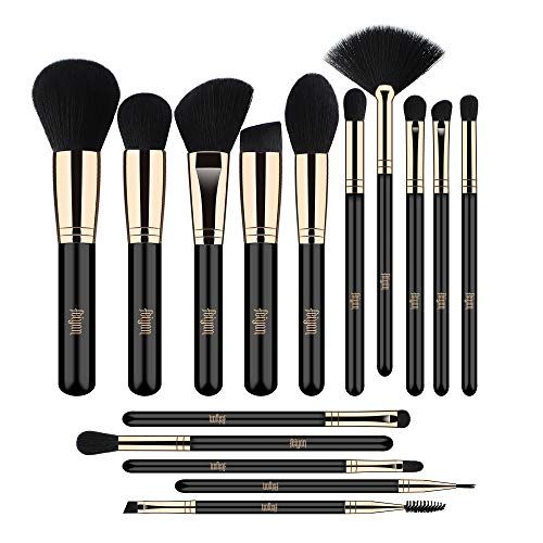 FEIYAN Makeup brushes 15pcs Professional Brush Set Premium Vegan Soft Blending EyeShadow Eyelash Eyeliner lip brushes kit