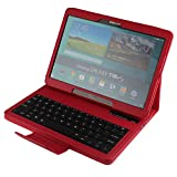 Wireless Keyboard Cover for Samsung T800/T805, Bluetooth Keyboard Case for Galaxy Tab S 10.5, Leather Case with Detachable Keyboard for Samsung Galaxy Tab S 10.5 [SM-T800/SM-T805]
