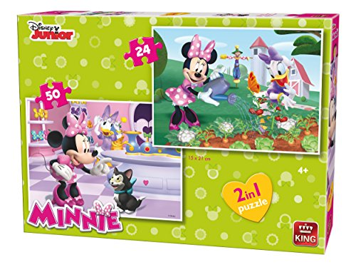 King 5414–2-in-1Disney Minnie Mouse bambini puzzle