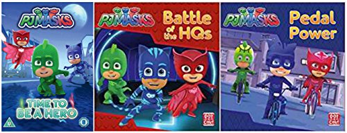 Pj Masks Collection Pj Masks - Time To Be A Hero / Pedal Power: A PJ Masks story book / Battle of the HQs: A PJ Masks story book