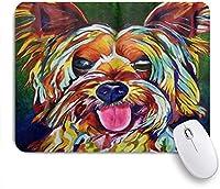 VAMIX マウスパッド 個性的 おしゃれ 柔軟 かわいい ゴム製裏面 ゲーミングマウスパッド PC ノートパソコン オフィス用 デスクマット 滑り止め 耐久性が良い おもしろいパターン (シュナウザーアート犬絵かわいい)